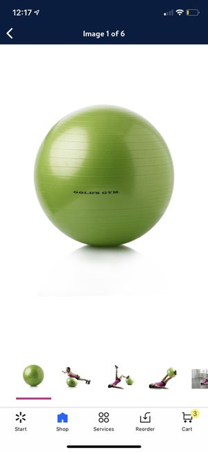 excercise ball ( brand new ) for Sale in Charlotte, NC