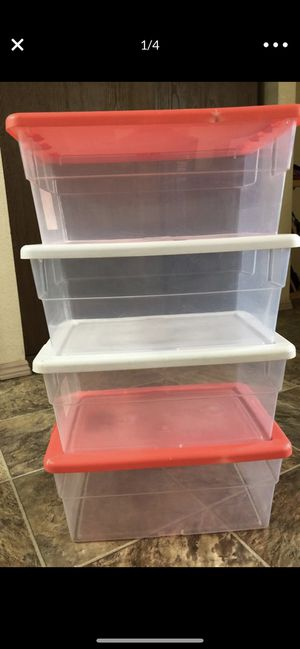 Storage containers almost new total 9 for 50$ only for Sale in Bellevue, WA