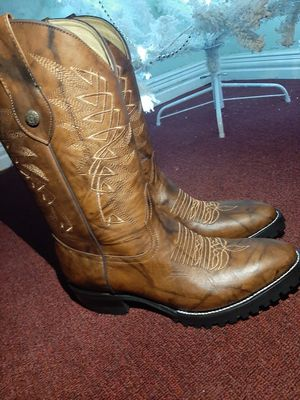 Mens western work boots slip resistant for Sale in Garland, TX