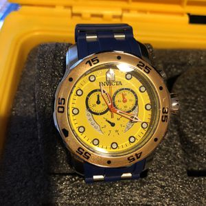 Invicta Yellow Face Blue Band Watch for Sale in Las Vegas, NV