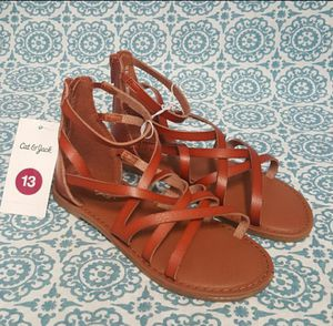 Cat & Jack Girls Lilith Gladiator Casual Sandals Brown Size 13 for Sale in Orlando, FL