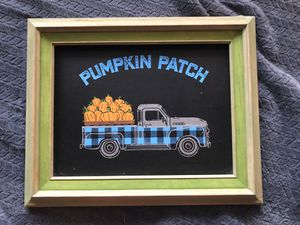 Hand chalked Pumpkin Patch Farmhouse Sign for Sale in Medford, OR