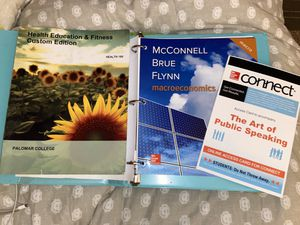 Palomar College textbooks and code for Sale in Vista, CA