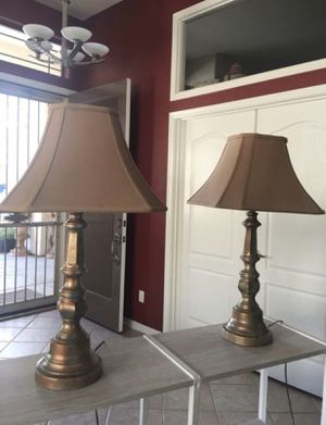 Lamp / lamps / wrought iron lamps / lamp set for Sale in Peoria, AZ
