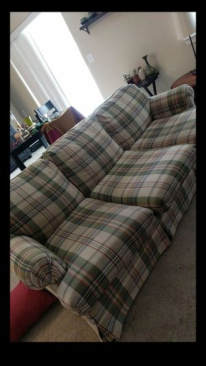 Plaid comfy couch for Sale in Bend, OR