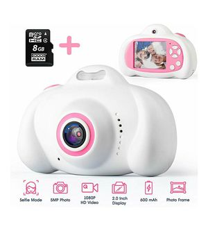 """Selfie Kids Camera for Girls & Boys as Gift - Digital Toy for Children 3-8 Year Old - Shockproof 2"""" HD Display, 2 Lens 5MP Photo & 1080P Videо for Sale in Charlotte, NC"""