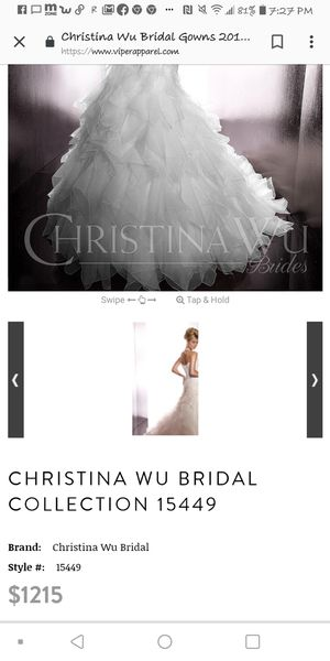 Christina wu size 16 wedding dress strapless corcet for Sale in Steubenville, OH