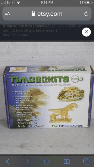Timberkits old stock wooden crafts, Timbersaurus automation kit- NEW dinosaur for Sale in Harwood Heights, IL