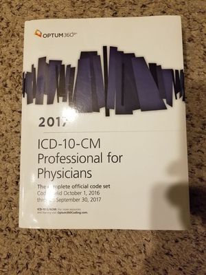 2017 ICD-10-CM Professional for Physicians for Sale in Aurora, CO