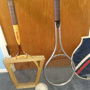 Tennis Rackets, Wood And Aluminum for Sale in Glendale, AZ