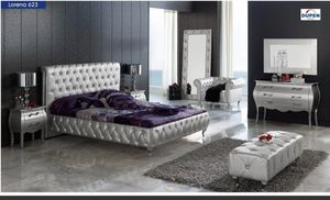 Lorena leather Bedroom set of 5 from spain for Sale in Mahomet, IL