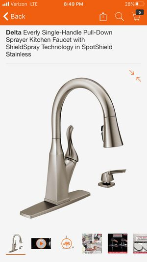 Delta Brushed Nickel Kitchen Faucet for Sale in Schaumburg, IL