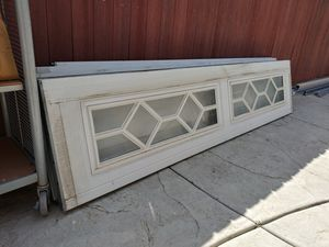 8 by 7 used garage door with Windows please see description for Sale in Norco, CA