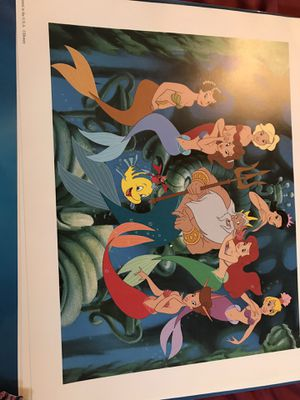 Disney Little Mermaid Lithographs. In original sleeve. Never been displayed. 1990 for Sale in South Park Township, PA