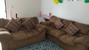 Sofa for 3 + Loveseat in Good condition for Sale in East Windsor, NJ