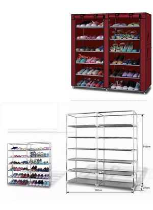 36pair Portable Shoe Storage Wardrobe Rack Shelves Closet Cover for Sale in Dallas, TX