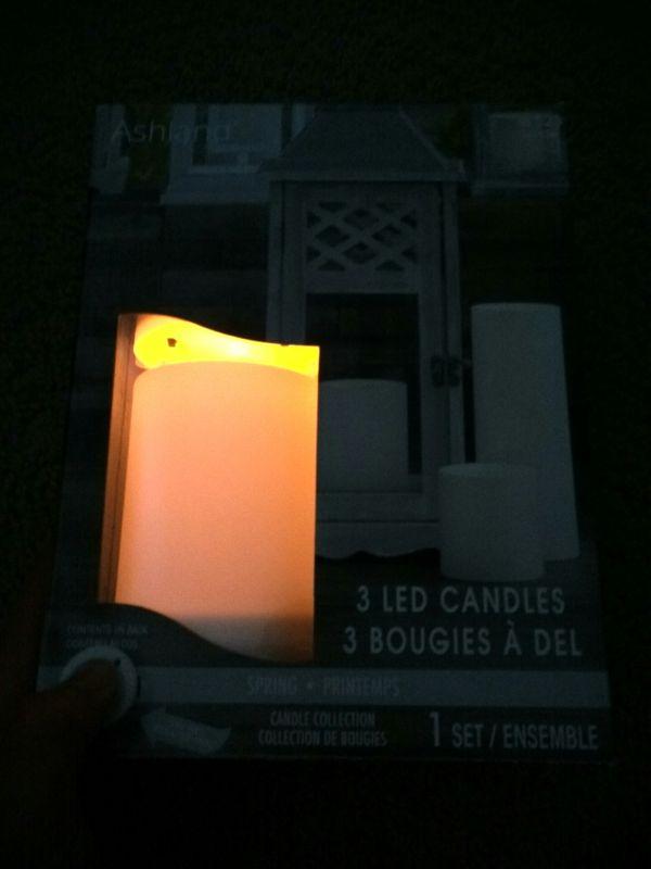 3 LED candles