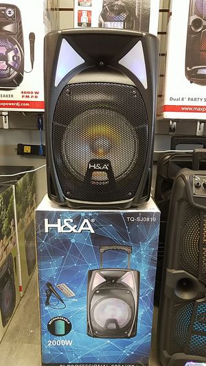 H&A Bluetooth Portable Party Speaker 2000W extra base professional Speakers for Sale in Dallas, TX