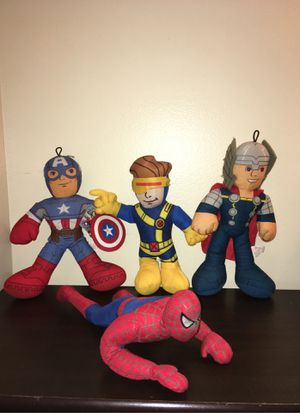 4x avengers plush LOT toy for Sale in Huntington Park, CA