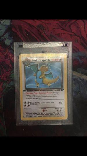 Dark Dragonite 1st Edition (Non-Holo) Pokemon Card In Hard Protective Case for Sale in Anaheim, CA