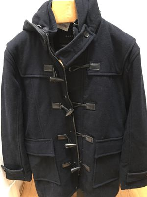 Men's ZARA navy wool toggle hooded coat nwt for Sale in Silver Spring, MD