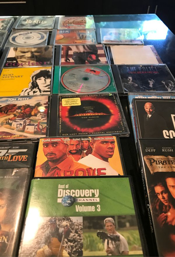 Cd's, DVD's and Sony 5 disk DVD MP3 player