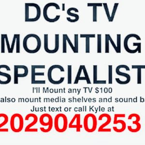 I'll Mount Any TV Anywhere In The DMV @100 for Sale in Washington, DC