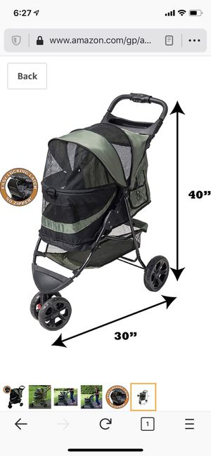Like New (missing box) Pet Gear No-Zip Special Edition 3 Wheel Pet Stroller for Cats/Dogs for Sale in Yonkers, NY