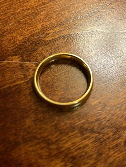 Gold Ring - 18k Gold Plated - Size 8 - 4mm Wide for Sale in Mesa,  AZ
