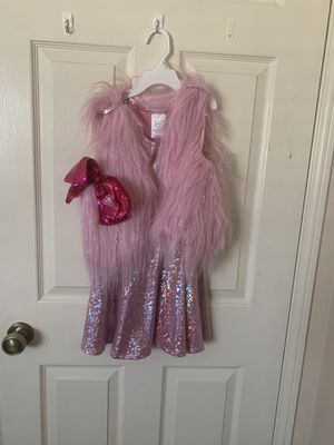 Jojo Siwa dress costume size 5 with hair bow for Sale in Rancho Cucamonga, CA