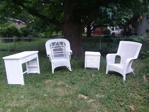 Wicker Patio Furniture $125 obo for Sale in Ferguson, MO