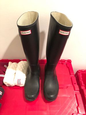 Hunter rain boots, women's size 10 for Sale in Chicago, IL