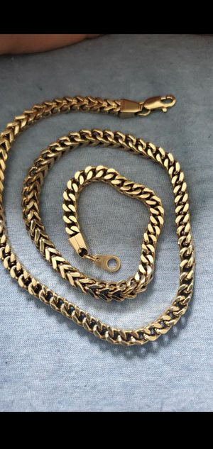 """Gold Chain 6mm 24"""" 18k Gold Plated for Sale in Renton, WA"""