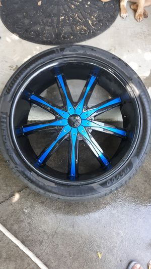 "Rims DCenti 6 lugs 24"" great tires, no bent lips for Sale in Fresno, CA"