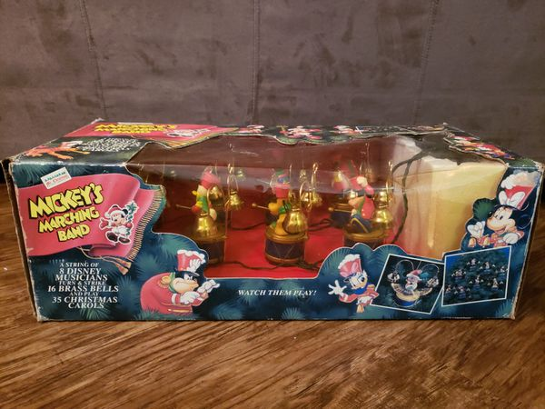 Mr. Christmas 1994 Mr. Christmas Mickey's Marching Band Disney Animated Original Box, Book, & Extra Clappers
