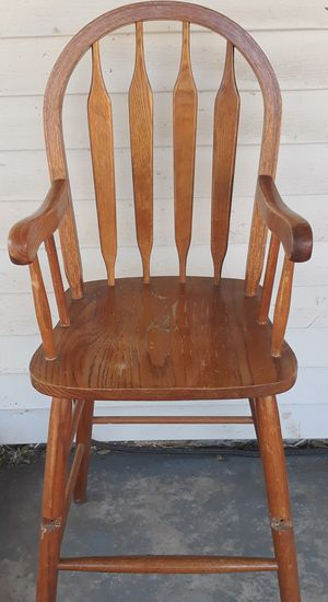 Oak High Chair for Sale in Colorado Springs, CO