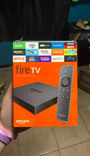 Fire tv 4K with voice remote for Sale in Glendale, AZ