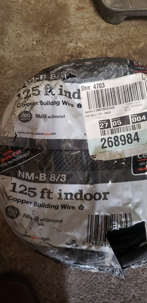 Copper 8/3 building wire for Sale in Seattle, WA