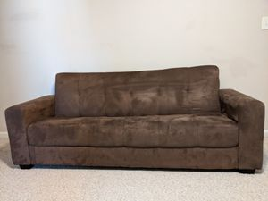Brown couch fold out to a full bed for Sale in Monroe, NC