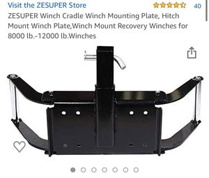 Universal Trailer Hitch - Winch Cradle - Winch Mounting Plate for Sale in Chino, CA
