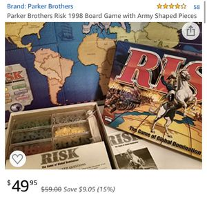 RISK GLOBAL DOMINATION Board Game Complete 1998 Parker Brothers for Sale in Grand Prairie, TX