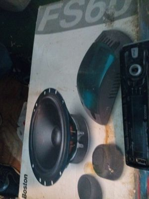 Car stereo system new speakers used deck for Sale in Denver, CO