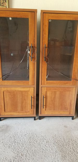2 storage stands with glass shelves for Sale in Strongsville, OH