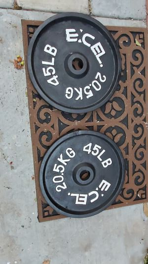 Olympic weights plates 45lb for Sale in Los Angeles, CA