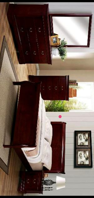 ♨️4 Piece Bedroom Set( queen bed frame, dresser, nightstand and mirror) ✔️Chest option ✔️KING size available for Sale in Houston, TX