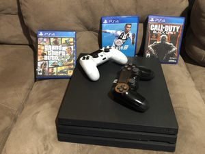 Play station Pro+3juegos+2controles for Sale in Springfield, VA