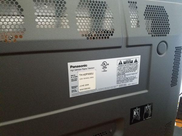 Panasonic plasma TV 42' screen and remote