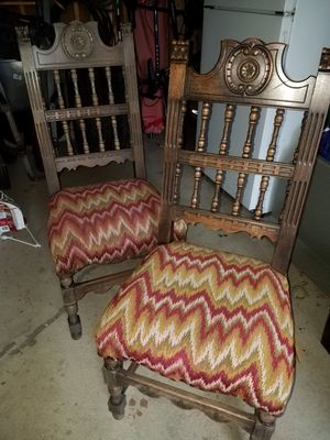 Antique solid wood chairs for Sale in Cleveland, OH