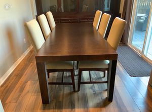 Designer XL Dining table with 6 Room & board dining chairs paid over $3k for Sale in San Diego, CA