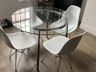 """42"""" Glass Table w/ Mid-century Style Chairs for Sale in Philadelphia,  PA"""